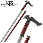 Kit Rae Axios Forged Sword Cane Damascus