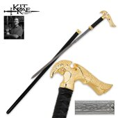 Kit Rae Gold Axios Forged Sword Cane