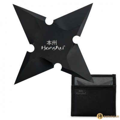 "HONSHU LG 7 1/8"" SLEEK BLACK THROWING STAR 1065"