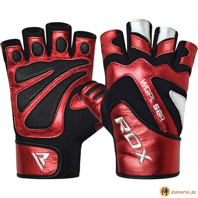 GYM GLOVE PAPER LEATHER RED