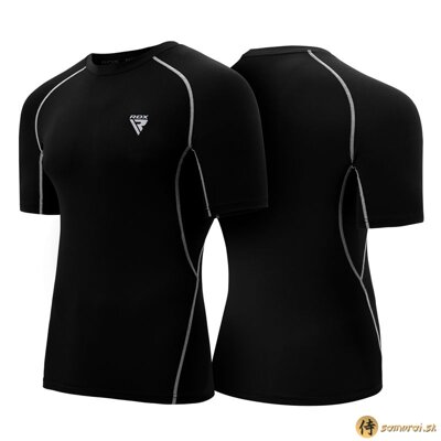 Clothing compression X5 rashguard black short